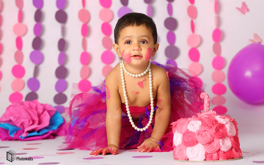 Title Baby cake smash photography in Whitefield Bangalore